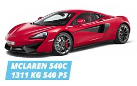 MCLAREN 540C, AMONGST THE LIGHTEST GT'S