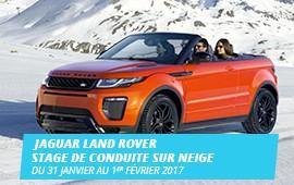 JAGUAR LAND ROVER Stage de conduite sur neige Gstaad